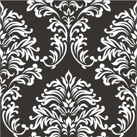 seamless damask: Damask seamless vector pattern