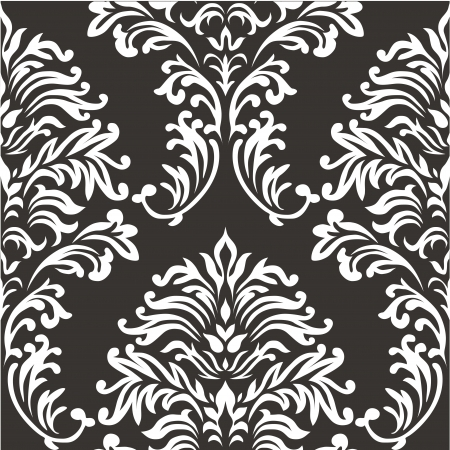 damask pattern: Damask seamless vector pattern