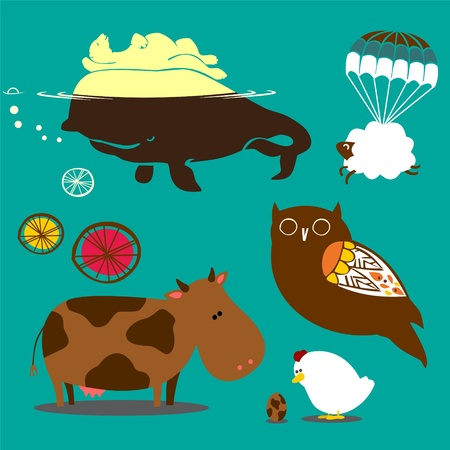 animan set Stock Vector - 14686949