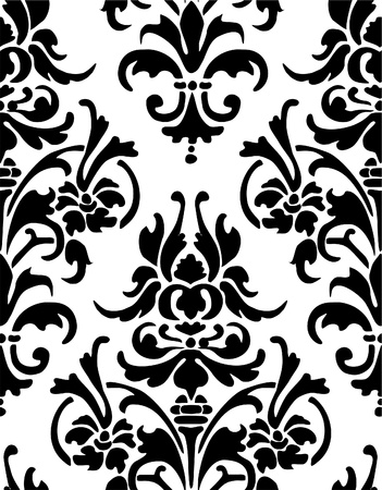 rococo style: Seamless wallpaper pattern