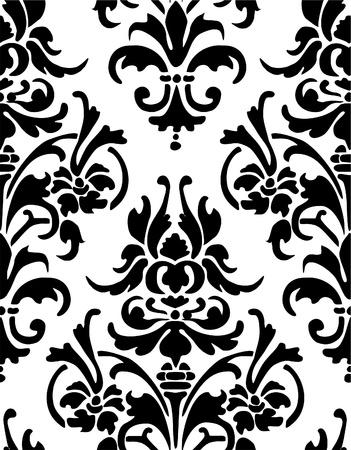 black silk: Seamless wallpaper pattern