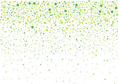 Festliches flying Frühling grün Konfetti auf transparentem Hintergrund. Vektor-Illustration.