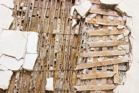 decoration destroyed wall Stock Photo