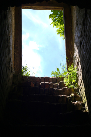 dungeon stairs to the exit