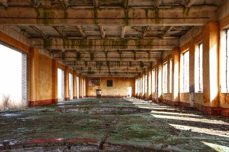 abandoned building without windows and doors Stock Photo