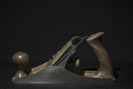 hand plane on a black background Stock Photo
