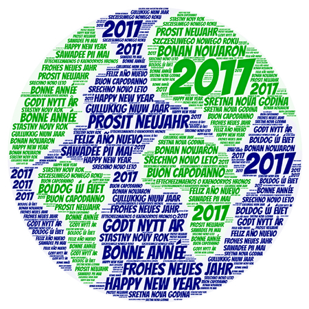 Word cloud International Happy New Year