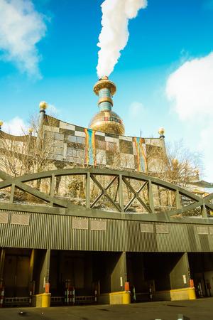 incinerator: artistically designed Waste incinerator in Vienna
