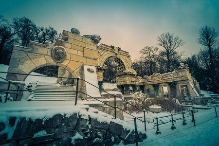 gloriette: Palace Schoenbrunn Vienna in Winter Editorial