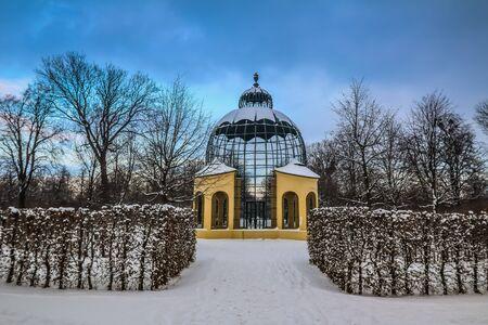 schoenbrunn: Palace Schoenbrunn Vienna in Winter Editorial