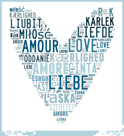 cinta: Word Cloud Love in different Languages