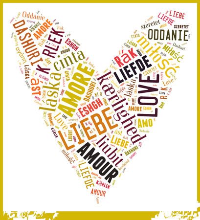 mi: Word Cloud Love in different Languages