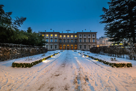 Winter in Liechtenstein Garden Palace Vienna Editorial