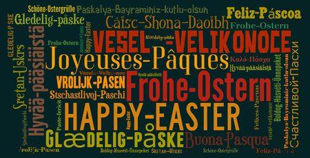 Word cloud International Easter greetings Reklamní fotografie