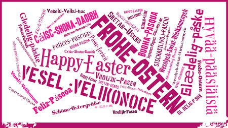 Word cloud International Easter greetings