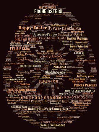 Word cloud International Easter greetings Stock Photo