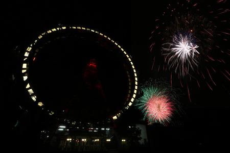 May 1 - Labor Day in Vienna Prater - Firework