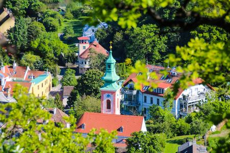 Kahlenbergerdorf, Vienna, Austria - A suburb on the periphery of Vienna Stock Photo