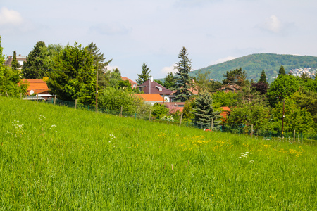 Roterberg - Red Hill, Vienna, Austria Stock Photo