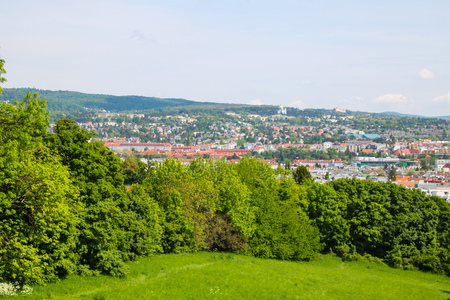 Roterberg - Red Hill, Vienna, Austria Stock Photo