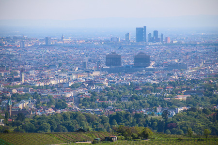 The View of Vienna from the Leopoldsberg Hill, Vienna, Austra