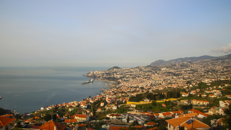 On the Road From Funchal to Madeira Airport ? ? Portugal Stock Photo