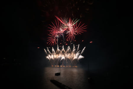 Firework Competition at sea, Brno, Czech Republic