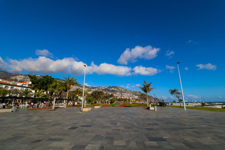 The harbor promenade of Funchal on the island Madeira, Portugal Editorial