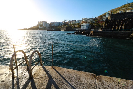 The Lido promenade of Funchal on the island of Madeira, Portugal