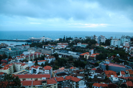 The Fortress do Pico of Funchal on the island of Madeira, Portugal