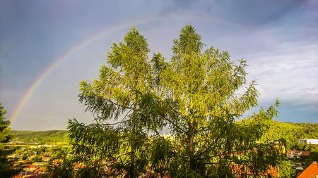 Kleurrijke Regenboog op de lucht