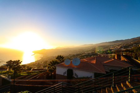 Panorama of Funchal from Viewpoint Neves on the island Madeira, Portugal