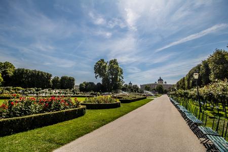Peoples Garden â € œVolksgartenâ €, Vienna, Austria Stock Photo