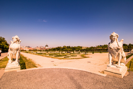 Palace garden of Belvedere in Vienna, Austria Editorial