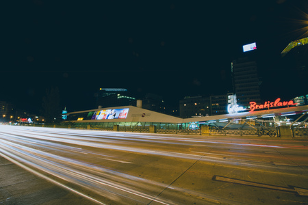 Schwedenplatz in Vienna by Night