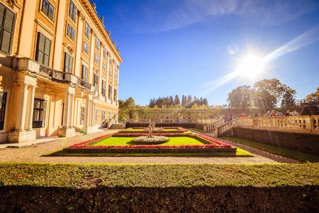 Autumn in Palace Garden of Schonbrunn, Vienna, Austria