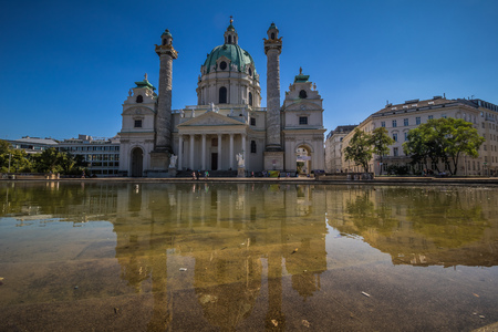 Karlsplatz in the center of Vienna, Austria Editorial