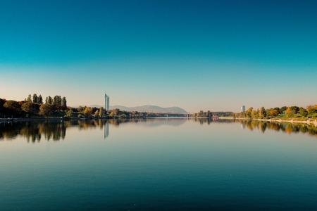 Danube Island in Fall, Vienna, Austria