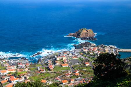 Porto Moniz on the north coast of the Iceland Madeira, Portugal Stock Photo