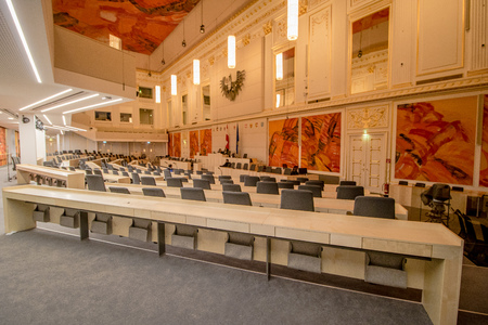 Parliament in the great redoubt Hall in the Viennas Imperial Palace Hofburg, Austria