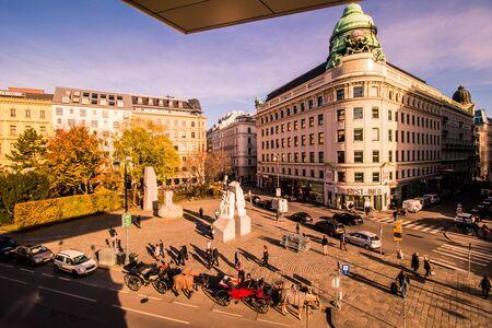 Albertinaplatz in Vienna, Austria