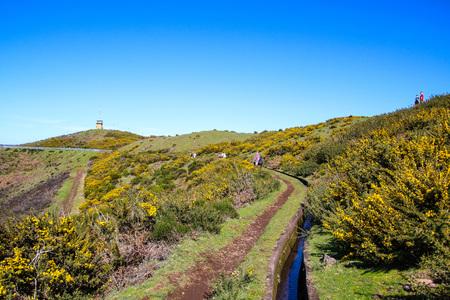 Plateau Paul da Serra on the island of Madeira, Portugal Editorial