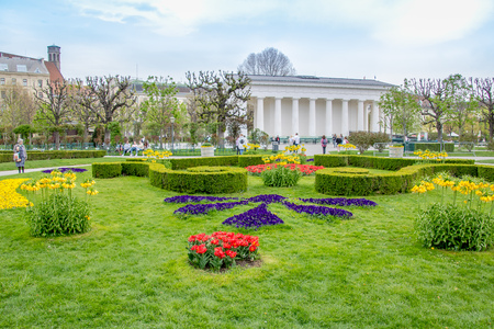 Spring time at Peoples Garden in Vienna, Austria Stock Photo