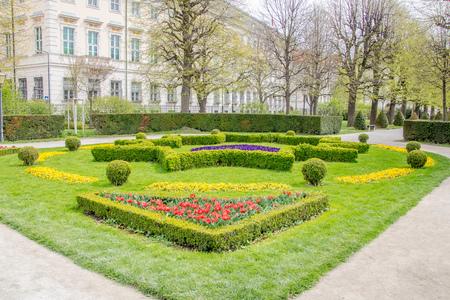 Spring time at People's Garden in Vienna, Austria