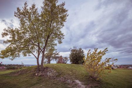 Tumulus on White Mountain  Bila Hora   in Prague, Czech Republic Imagens