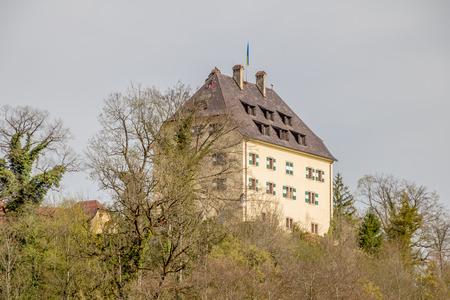 Glanegg Castle and Estate Meierhof in Salzburg, Austria, Spring Time. Editorial