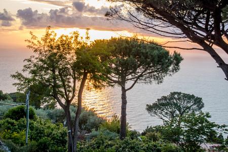 View from Hotel San Michele in Anacapri in sunny spring, Capri, Italy