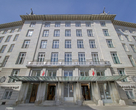 Austrian Post Savings Bank in Vienna, Austria