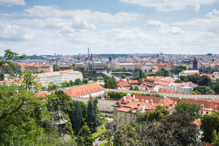 View from the Prague Castle on the old town in Prague, Czech Republic Stock Photo