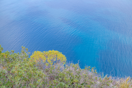 The Viewpoints Belvedere Migliera on the island Capri on a sunny spring day. Stock Photo